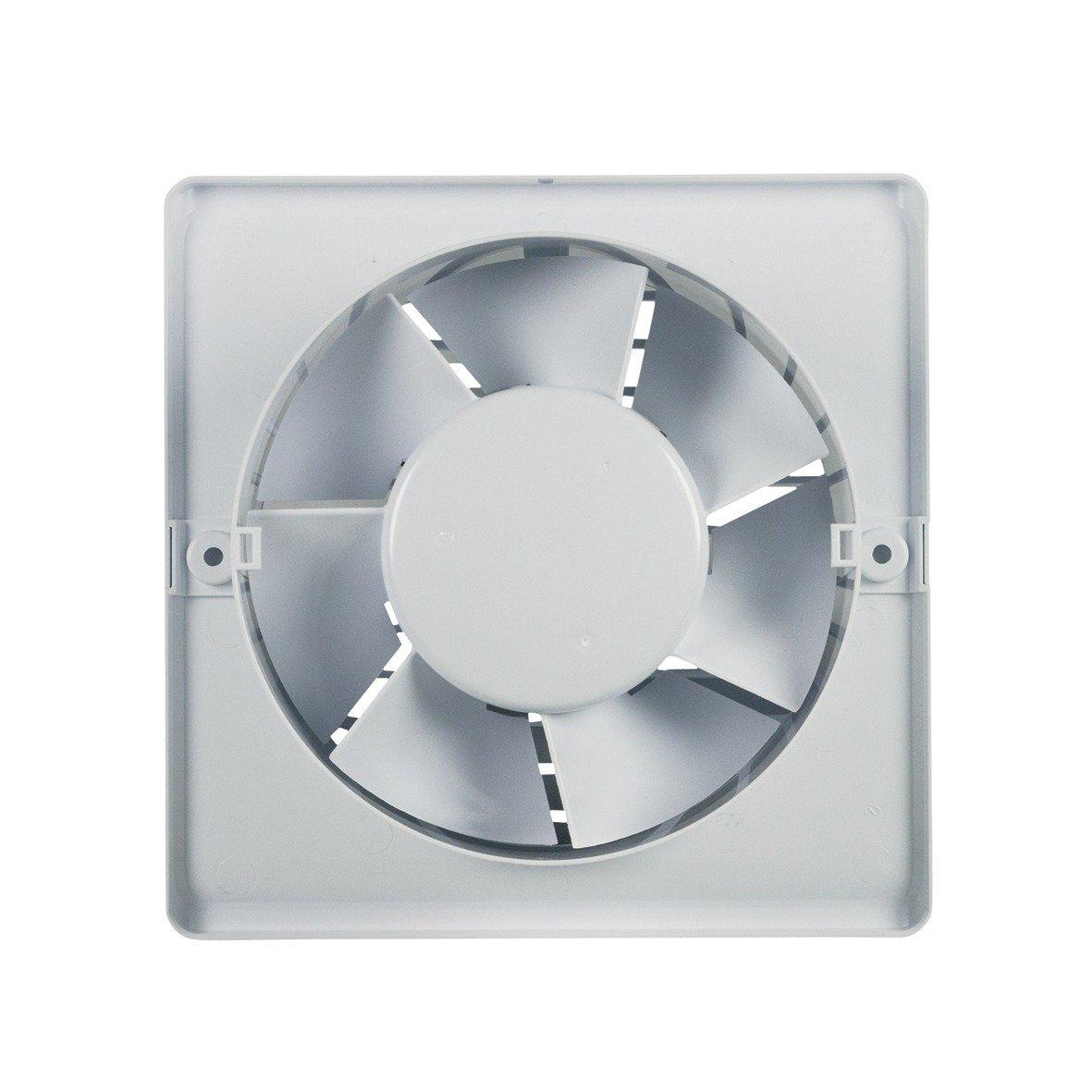 Wohnraumventilator Wandeinbauventilator L/üfter Ventilator 125erR mit Feuchtigkeitssensor f/ür Wand Bad Toilette