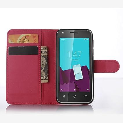 Ycloud Funda Libro para Vodafone Smart Speed 6, Suave PU Leather Cuero con Flip Cover