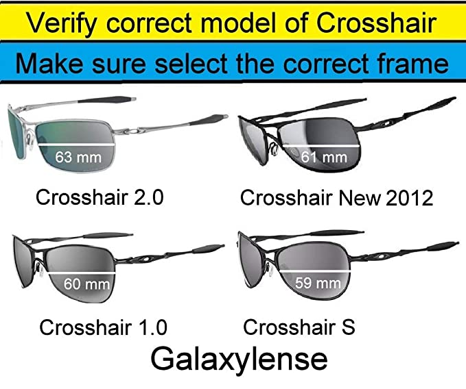 54ae0aad63 Amazon.com  Galaxy Replacement Lenses for Oakley Crosshair 1.0 Black Blue  Green Red Polarized