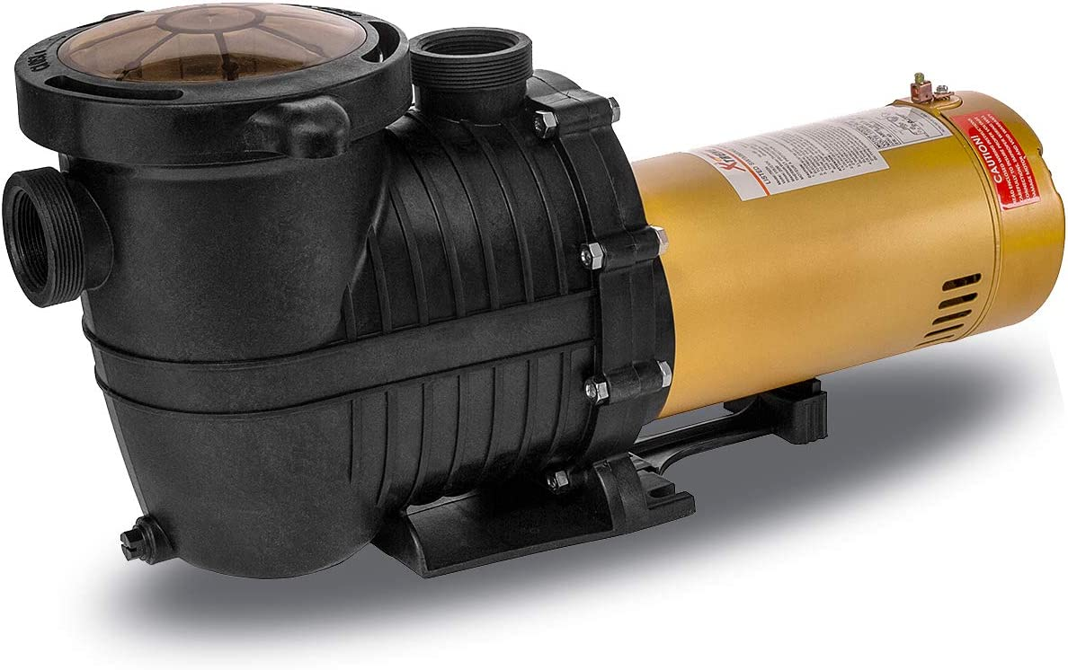 """XtremepowerUS 1.5HP Inground Pool Pump 5280GPH 1.5"""" NPT Inlet/Outlet 220V Dual Speed"""
