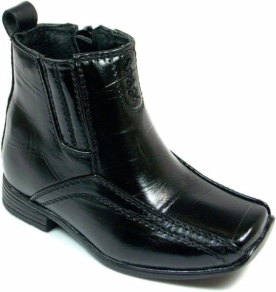 Boys Infants//Toddlers I-322 Ankle High Squared Toe Dress Boots