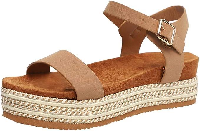 Chaussures Plates LANSKRLSP Ete Sandales Dentelle FEMME OPXN8knw0