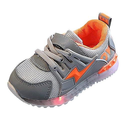36ea97a52a304 Fossen LED Zapatillas para Niñas Niño 1-6 años Casual Zapatos de Deporte  Talla 20-29  Amazon.es  Zapatos y complementos