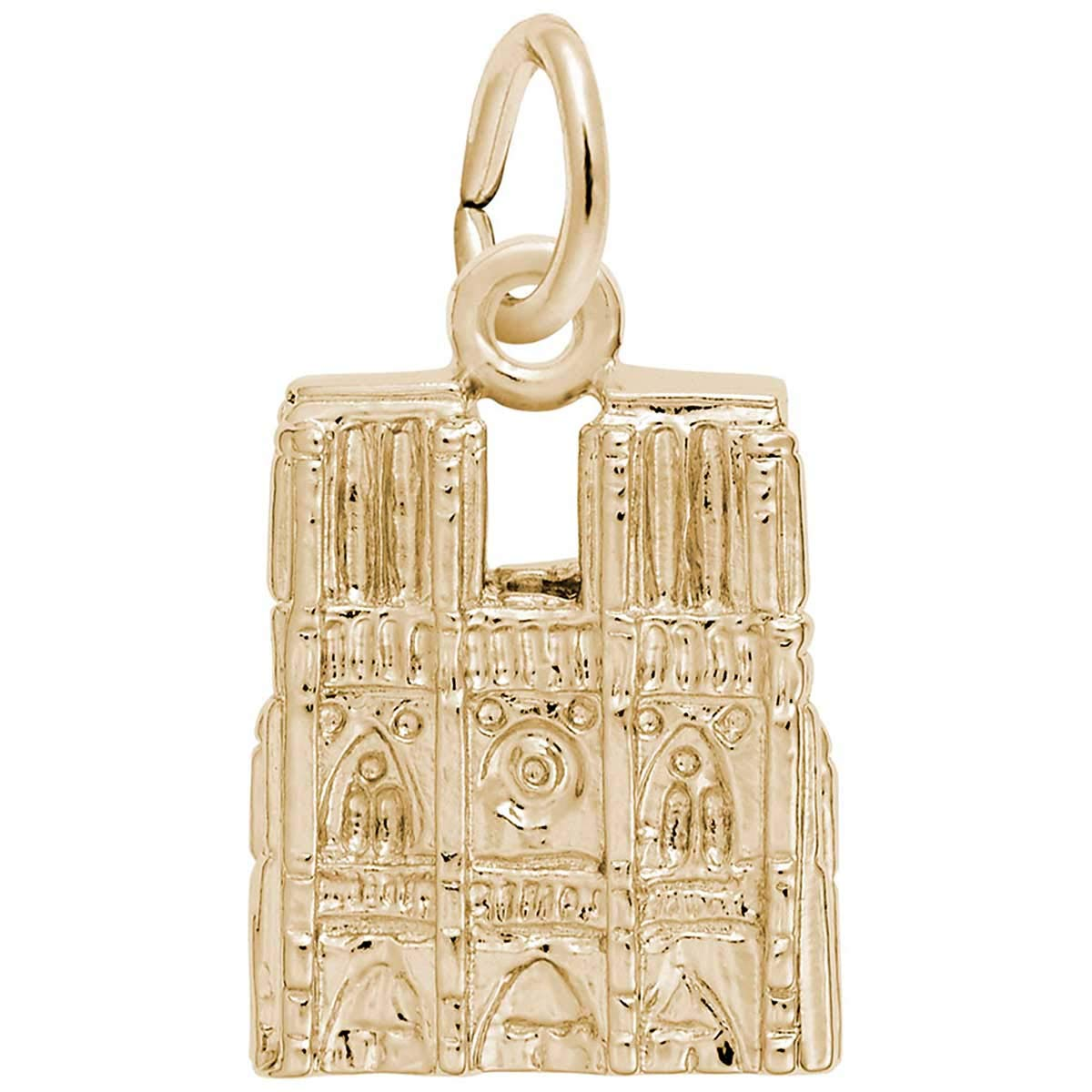 Rembrandt Charms Notre Dame Cathedral Charm, 14K Yellow Gold