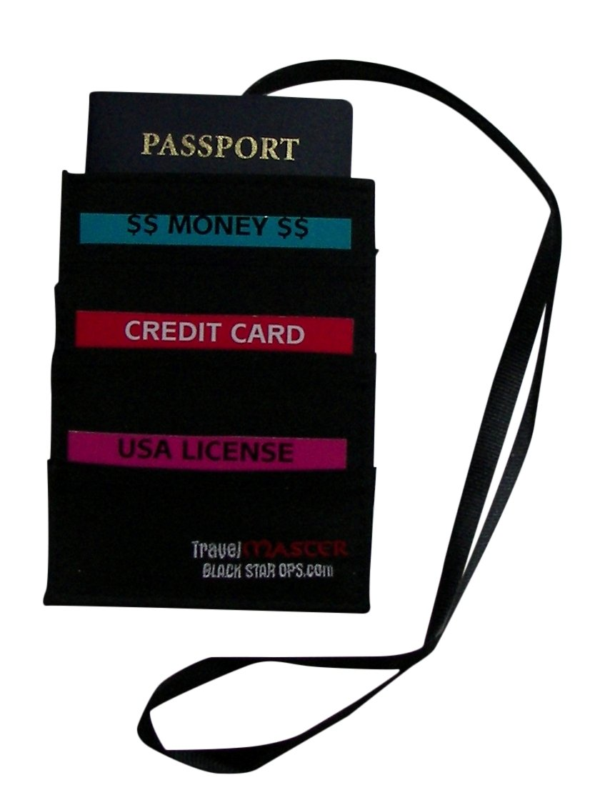 TRAVEL MASTER DUO: HIDDEN TRAVEL WALLET - WITH EASY REMOVABLE NECK LANYARD