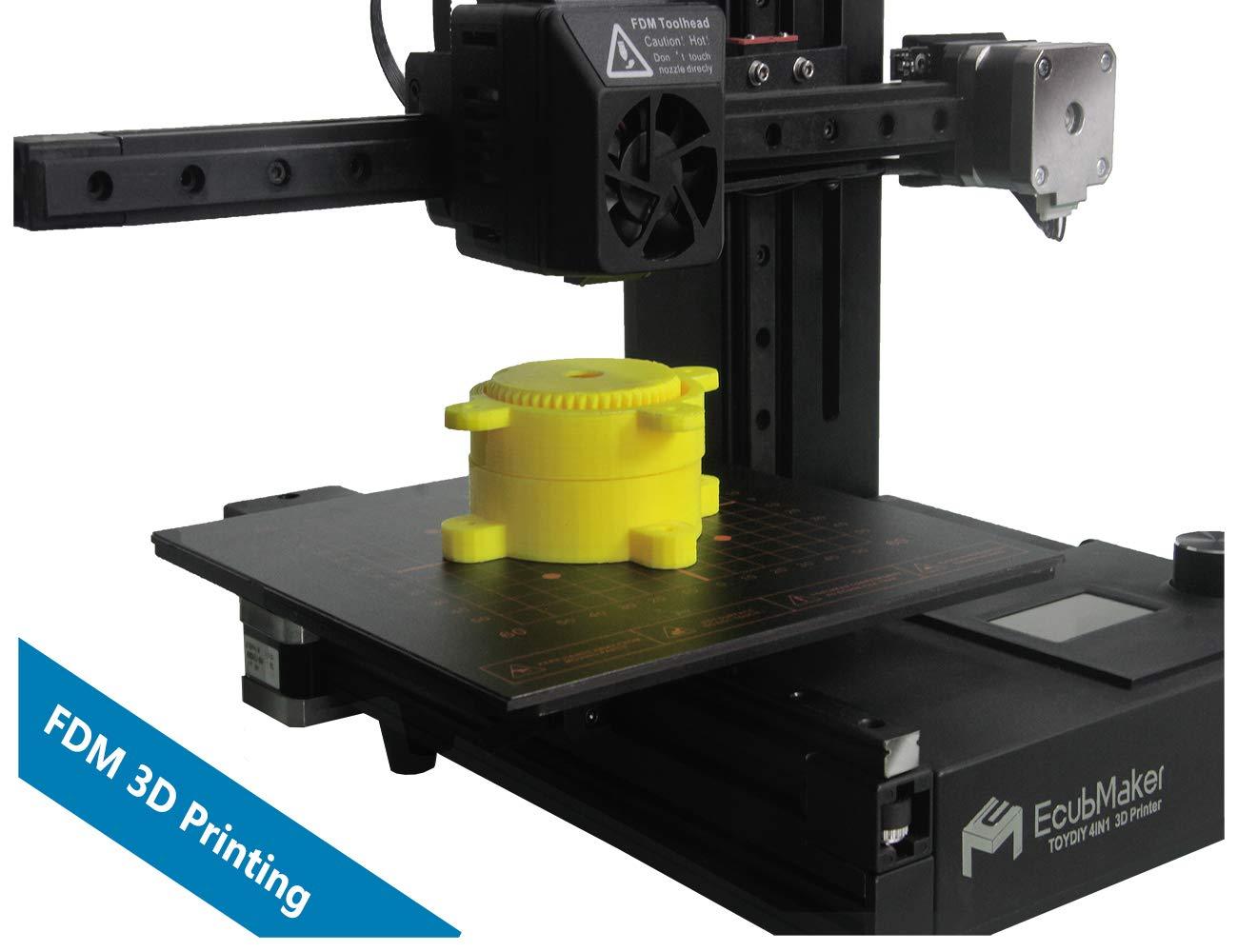 Amazon.com: EcubMaker TOYDIY 4 en 1 impresora 3D FDM láser ...