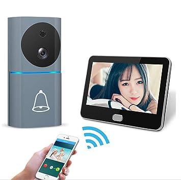 Love Life Cámara de vigilancia de Seguridad para el hogar con Video en el Interior con Control Remoto y desbloqueo Remoto del teléfono con Pantalla Interior ...
