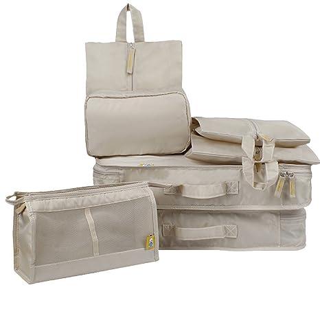 Organizadores de viajes(Set de 7) - Cubos de embalaje Bolsa ...