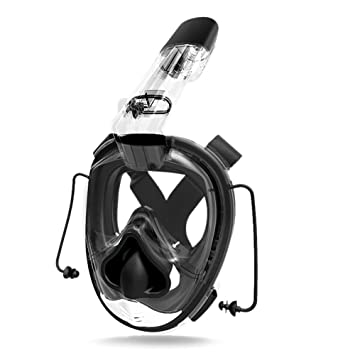 TOOGOO Mascara de buceo Full Face Mascara de buceo One-piece Gasbag Snorkeling Mascara de