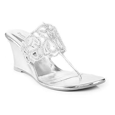 Shalimar Shoes (GS) UK Damen Espadrilles, Silber - Silber - Größe: 40