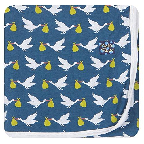 Kickee Pants Swaddling Blanket, Twilight Stork