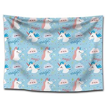 FUWUX Home Unicornio Impreso tapicería Lonas Mantas Toallas de Playa Pinturas para el hogar manteles Decorativos (Color : G0134 (2), Size : 150 * 200CM): ...