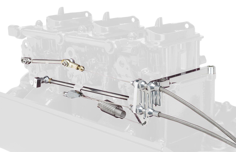 Lokar TCB-4150 Billet Aluminum Throttle//Kickdown Bracket Kit with Return Kit