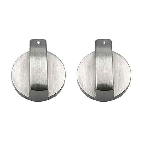 2 Unids Botones Horno, Gosear Universal Metal Interruptores Giratorios Interruptores de Control Accesorios de Repuesto para Cocina Cocina Estufa de ...