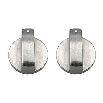 2 Unids Botones Horno, Gosear Universal Metal Interruptores Giratorios Interruptores de Control Accesorios de Repuesto para Cocina Cocina Estufa de Gas ...