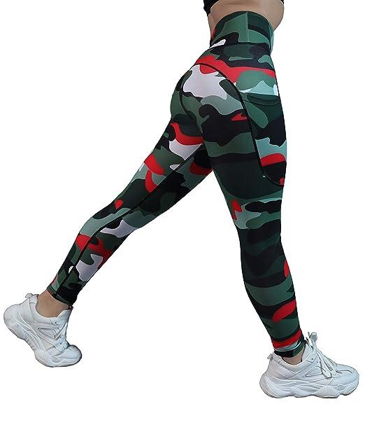 QYQ High Waisted Leggings with Pockets - Workout Leggings for Women Stretch Power Flex Yoga Pants - Full&Capri