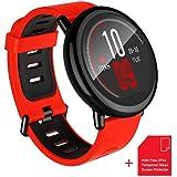 Reloj Inteligente Deportivo Amazfit Pace [Seguimiento de salud y fitness] [Monitor de ritmo cardíaco] [11 días de espera] [Bluetooth 4.0/BLE] [IP67 resistente al agua] WiFi para Android o iOS Smartphones (Amazon Pace-Negro)