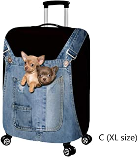 Elastic Stretch Jeans Suitcase Cover, Protective Luggage Cove Protective Cover Fits 18-32 Inch Luggage (#3, XL)