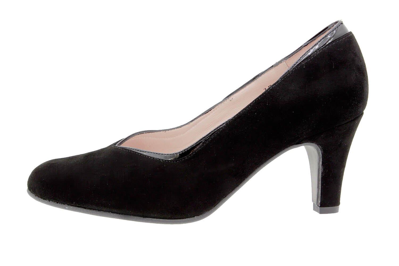 PieSanto Women's 9206 Black Leather Court shoe Comfort Extra Wide 38 W EU (7.5 - 8 C/D US Women)