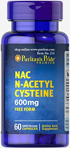 Puritan s Pride NAC 600 mg N-Acetyl Cysteine -60 Capsules