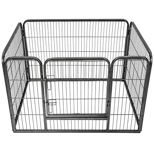 TecTake Welpenlaufstall Tierlaufstall Freigehege Hunde Laufstall rechteckig | Größe (LxBxH): ca. 125 x 85 x 70 cm