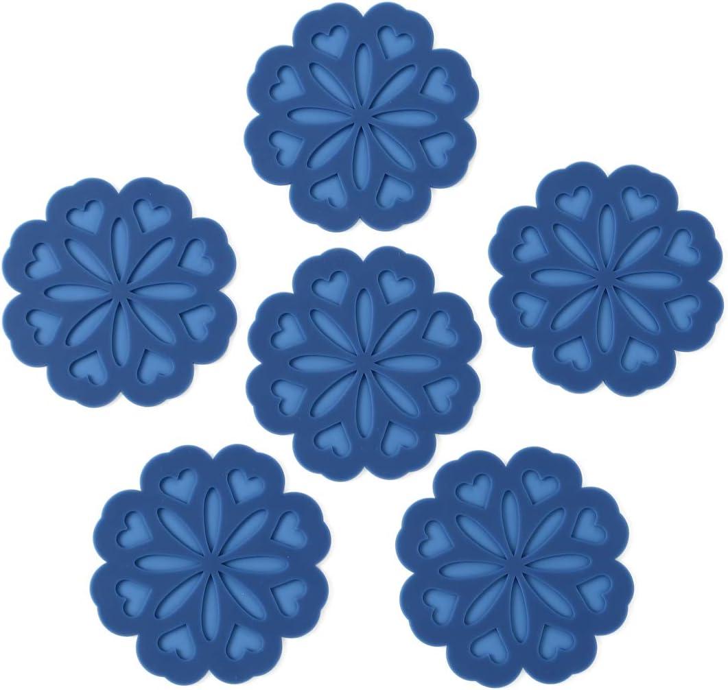 Trivet for Hot Dishes Non-Slip /& Heat Resistant Modern Kitchen Hot Pads for Pots /& Pans Hot Pot Holder Hot Pads for Table /& Countertop Assort 4 colors Set 4 Silicone Trivet Mat