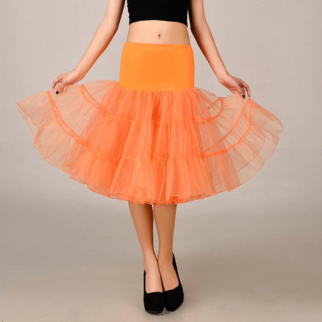 Falda de tul para boda de 10 colores naranja naranja M: Amazon.es ...