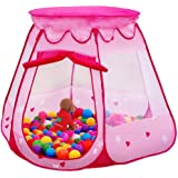 Amtinyjoy Pink Princess Tent Indoor and Outdoor 1-8 Years Old Children Game Play Toys Tent Balls Not Included