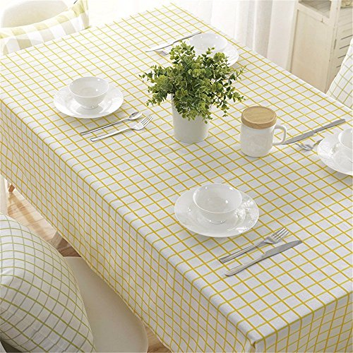 HOMEE Simple european style cloth cotton plaid rectangular table cloth Christmas decorations,G,140X140cm by HOMEE