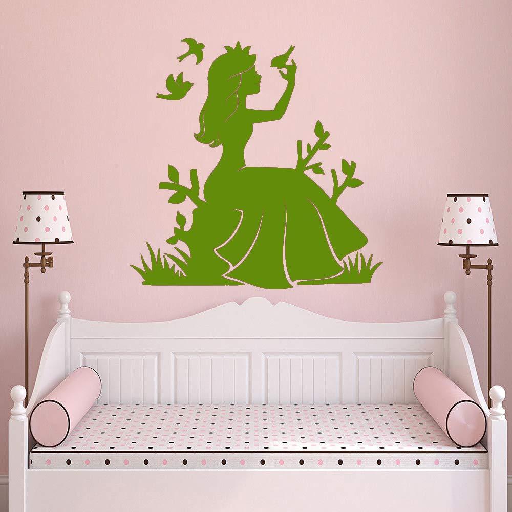 xingbuxin Fairy Girl Vinilo Adhesivo de Pared Princesa y pájaro ...