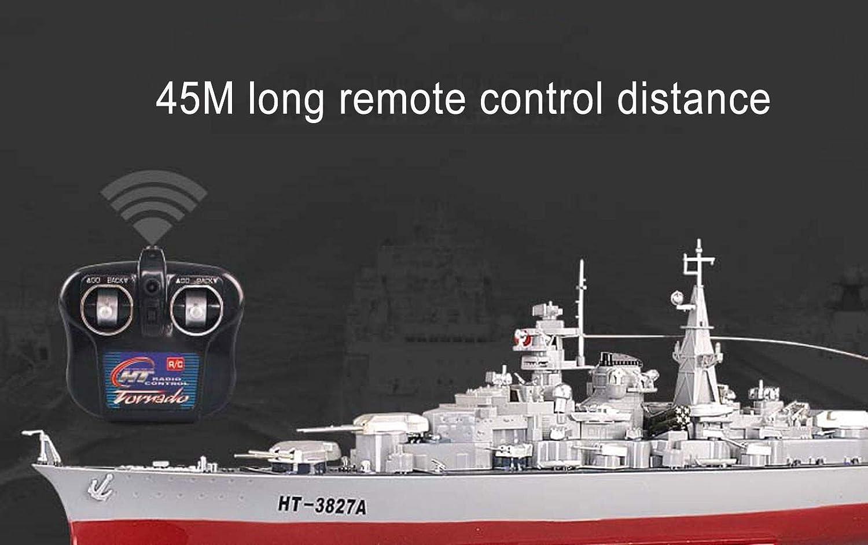 SOWOFA子供用電動玩具ボート1:360スーパーラージリモートコントロール軍艦リモートコントロールボート高速スピードボート蒸気高速モデル戦艦 B07MXF8916