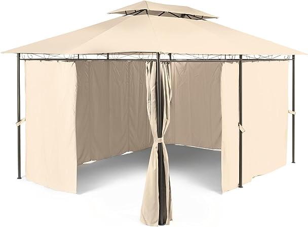 Garten Pavillon Metall 3x4 Weiß EXTRA wasserdicht Gartenzelt Party Zelt Wände