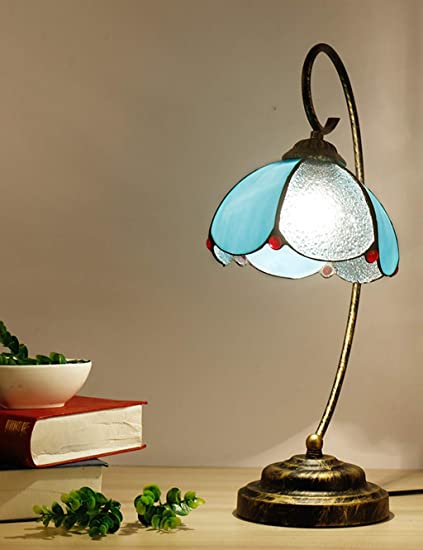 Amazon com: ESPERANZAXU Tiffany Bedside Table Lamp, American Retro