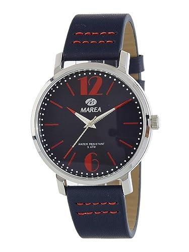 Marea B54133/2 Reloj para Hombre con Correa Azul Oscuro y Pantalla en Azul Oscuro: Amazon.es: Relojes
