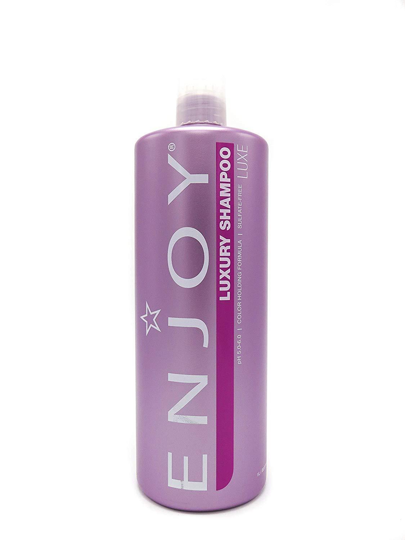 ENJOY Sulfate-Free Luxury Shampoo (33.8 OZ) – Strengthening, Smoothing and Volumizing Shampoo