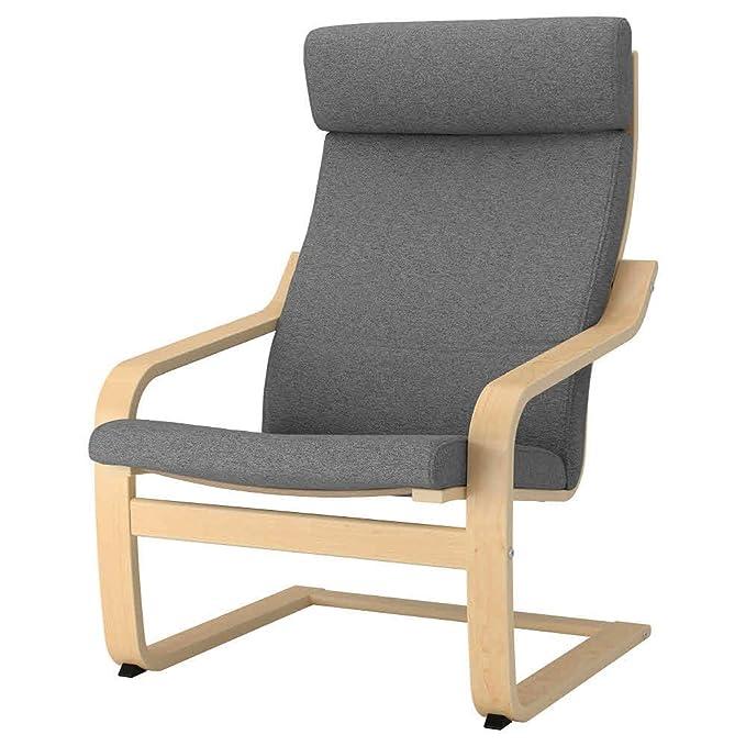 IKEA ASIA POANG - Cojín para sillón, Color Gris: Amazon.es ...