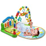 Toyshine Baby's Playmat Gym with Toys, Made of Non Toxic Materials (Assorted Colour)