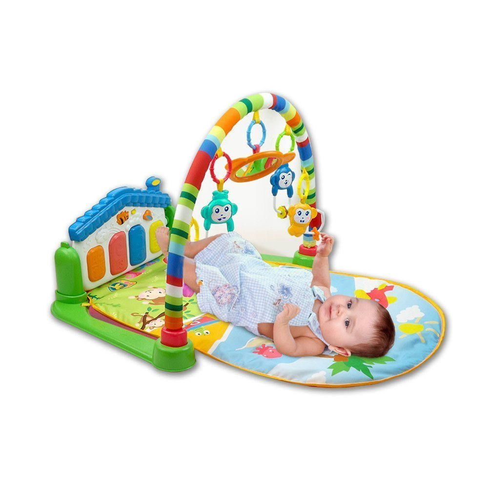 Toyshine Baby's Playmat Gym With Toys, Made Of Non Toxic