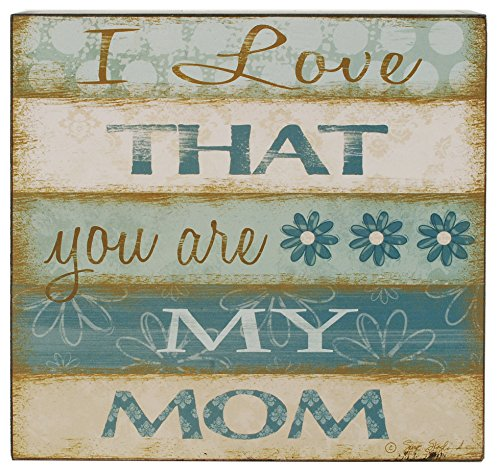 Blossom Bucket You Are My Mom' Striped Wall Box Sign Home Decor