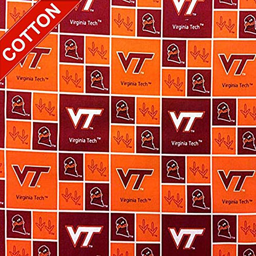 Virginia Tech Hokies NCAA Cotton Fabric - 45