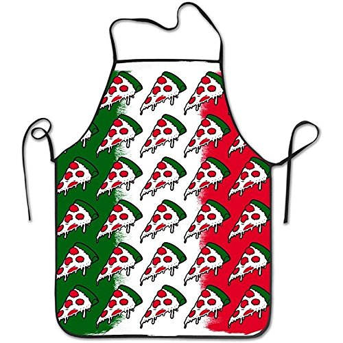 Giemceh Aprons Italy Flag Pizza Works Apron for Kitchen BBQ Barbecue Cooking Gardening Waterproof Durable and Great Gift Uniform Code Suit for Men Women Creative Design Bib