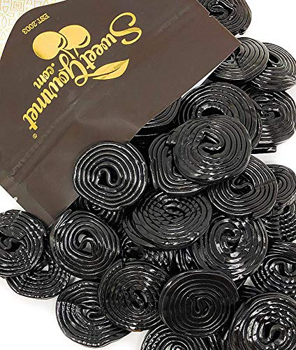 Italian Black Licorice Wheels | Bulk Candy | Natural Colors and Flavors, GMO Free | 1 Pound ()