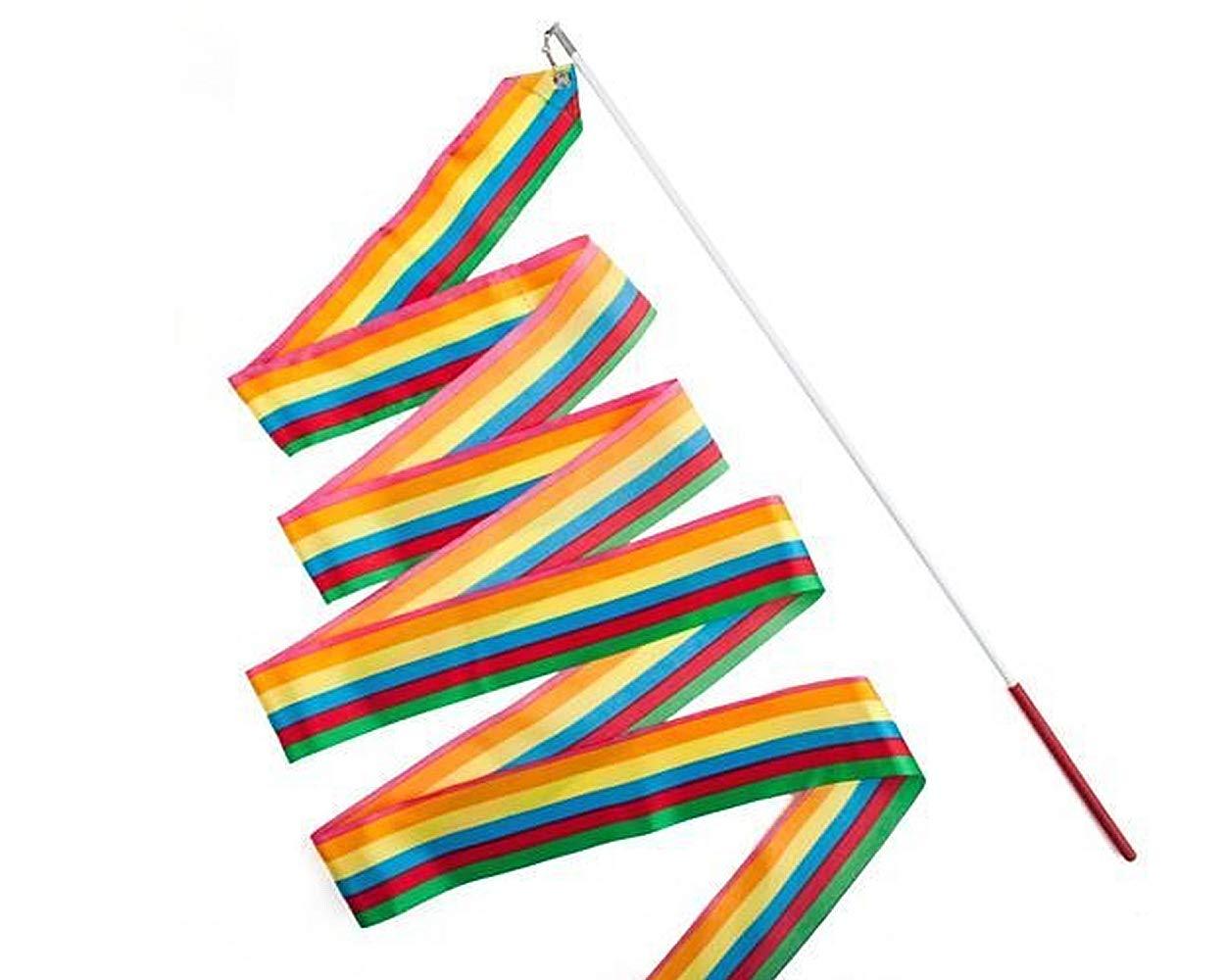 【保証書付】 ACE SELECT ダンスリボン WAND 4m WAND リズミック 体操 リボン 子供用 ダンス ダンス ストリーマー 子供用 バトントワリング用 B07GKJZWXD レインボー レインボー, クラシック:9f2f740c --- synnexsoftech.com