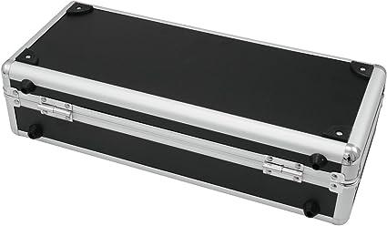 Set de 2 x Estuche PRAKUR para pedales de guitarra, negro-plata ...