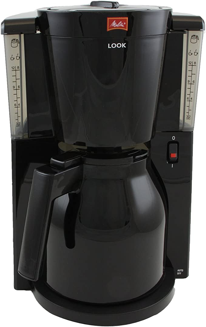 Melitta Look Therm IV - Cafetera de goteo, 1000 W, color negro ...