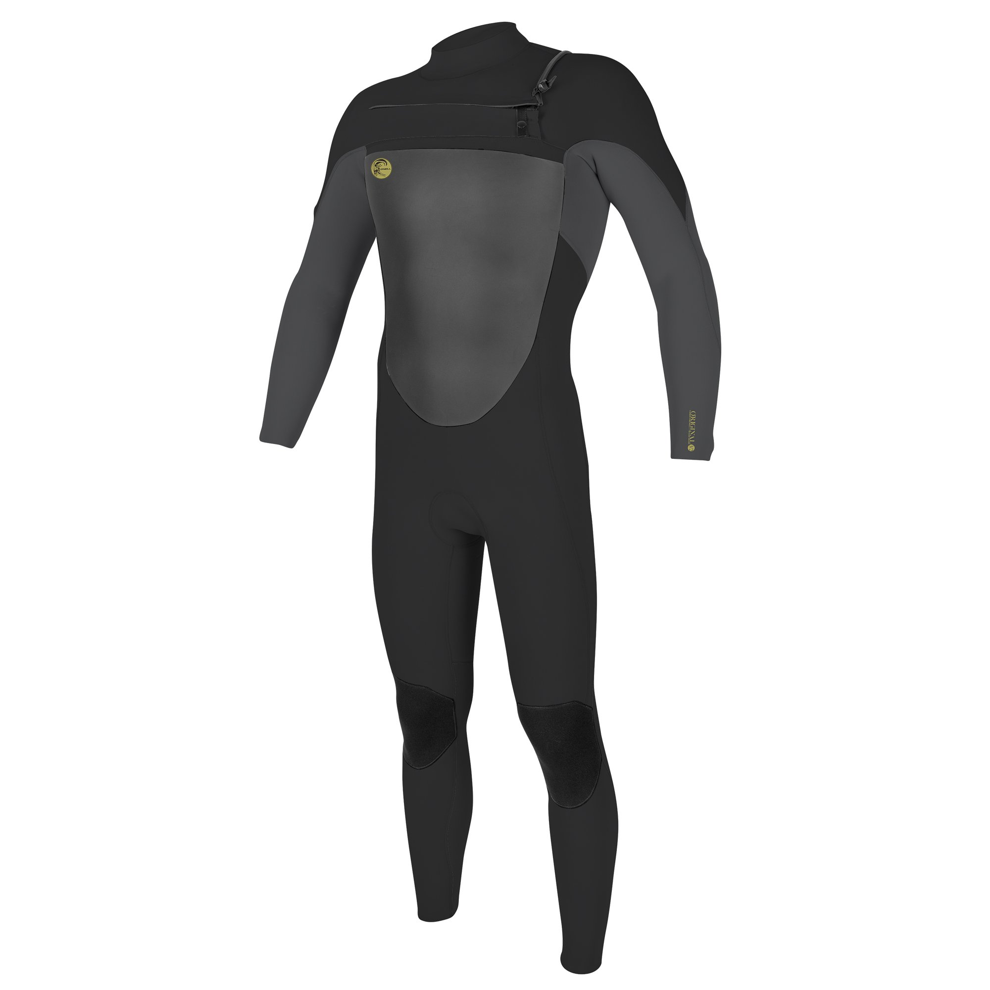 O'Neill Men's O'Riginal 4/3mm Chest Zip Full Wetsuit, Oil/Smoke, Small