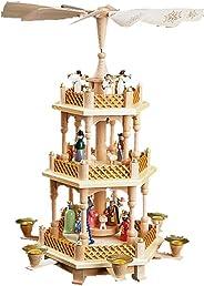 Alexander Taron 16720 Richard Glaesser Pyramid-3 tiers-Nativity-17.25