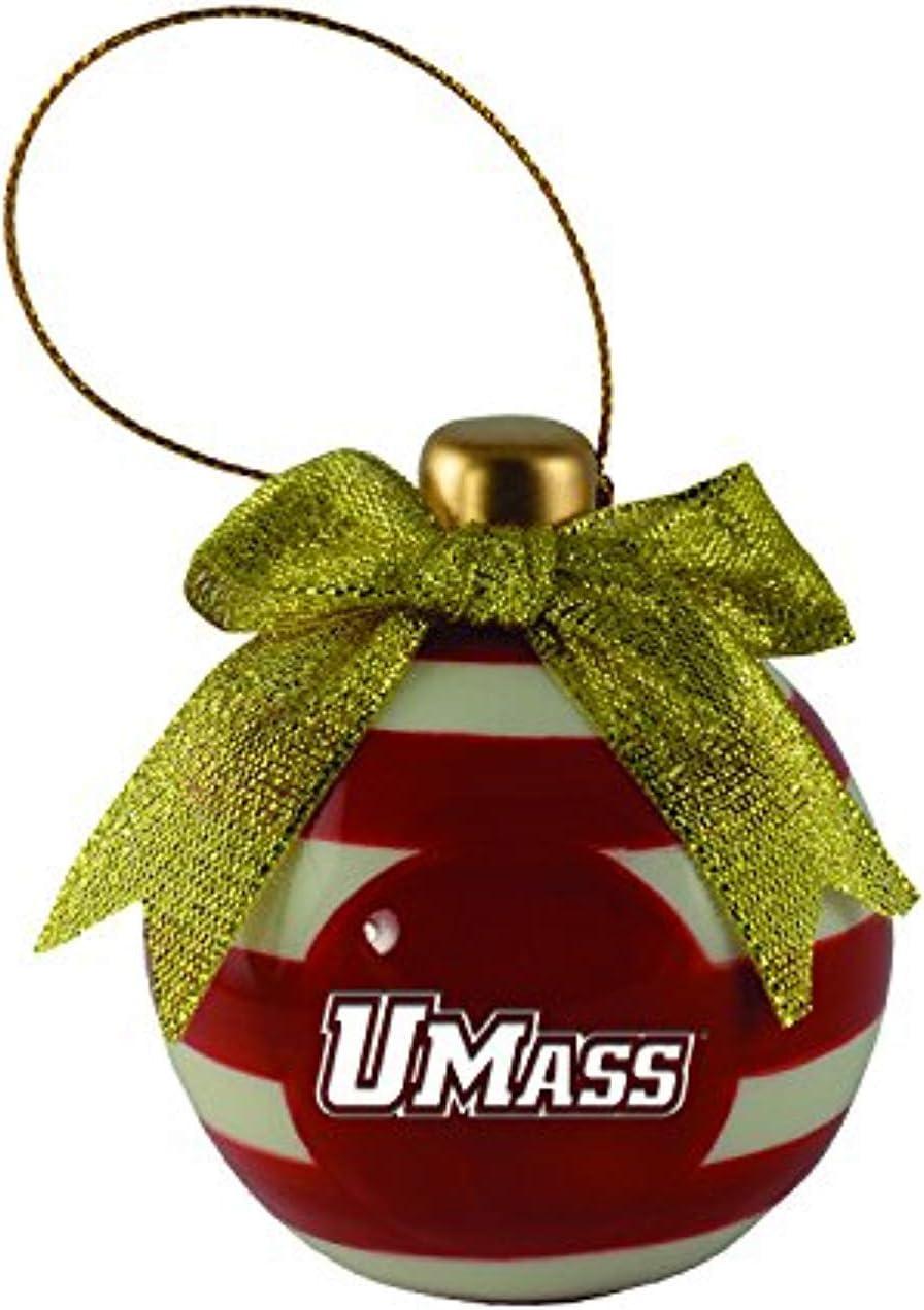 Ceramic Christmas Ball Ornament - UMass Amherst