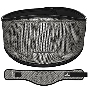 "ProFitness Neoprene Weight Lifting Belt 6"" Back Support, Perfect for Cross Training, Olympic Lifting, for Men and Women (Metallic Gray, Medium, 32"" - 36"" Around Waist)"
