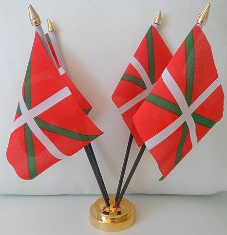 Diseño de la bandera de España Vasco español 4 lotmusic con Base ...